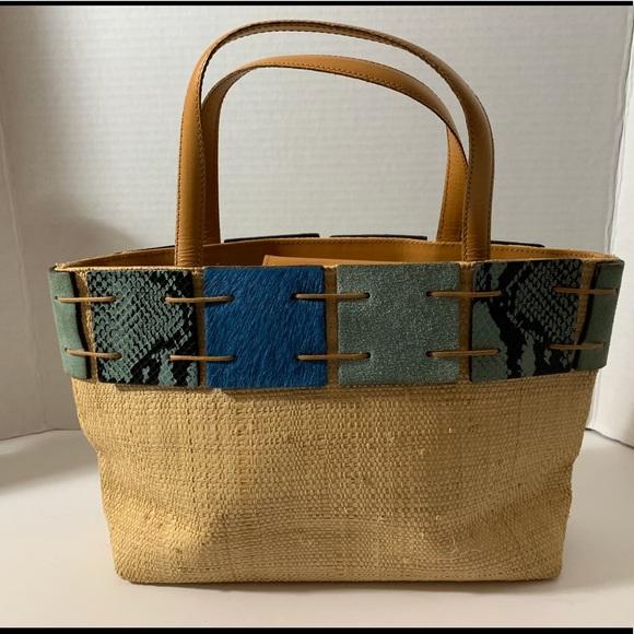 berge Handbags - New summer woven and blue handbag